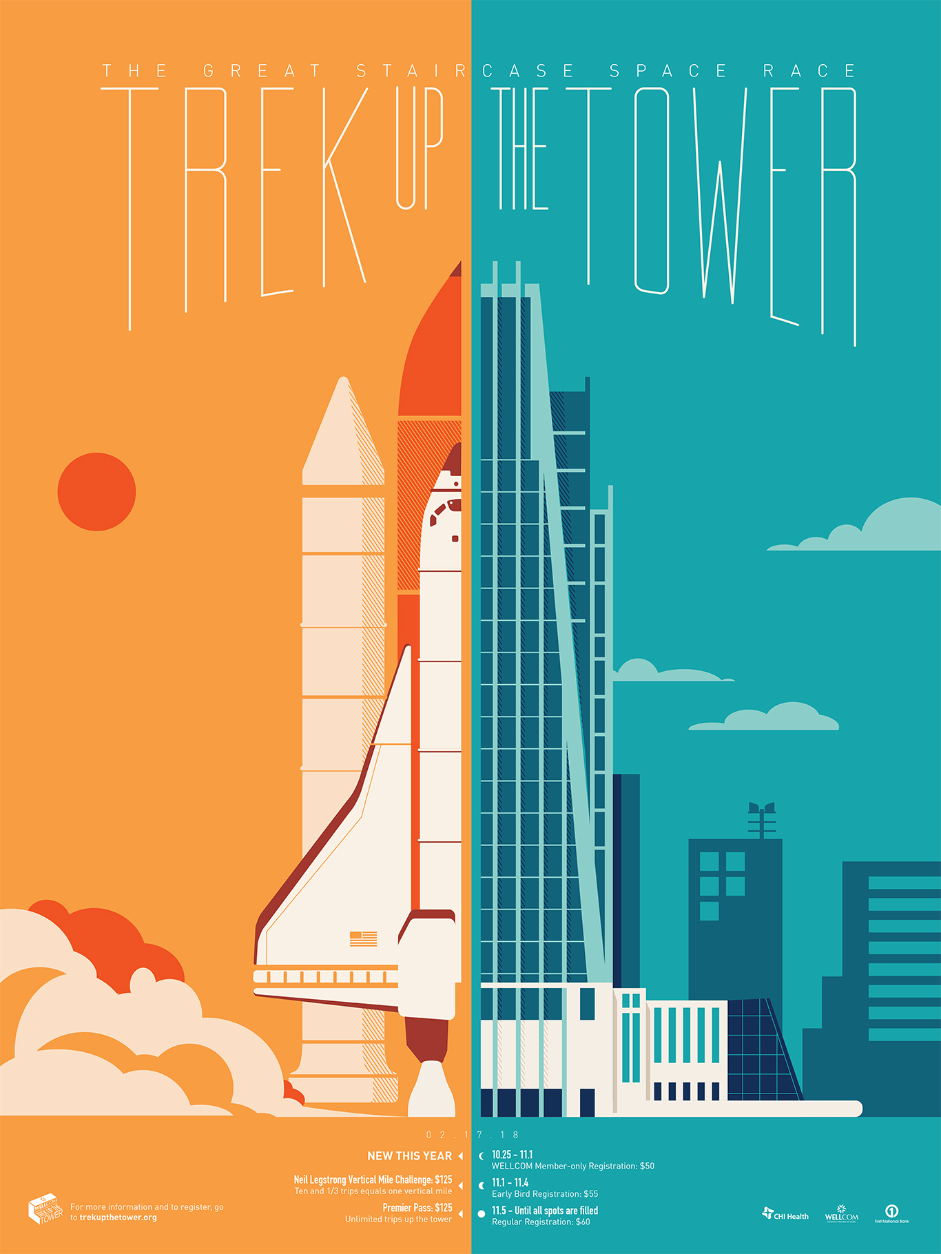 2018 Trek Up the Tower promotional poster
