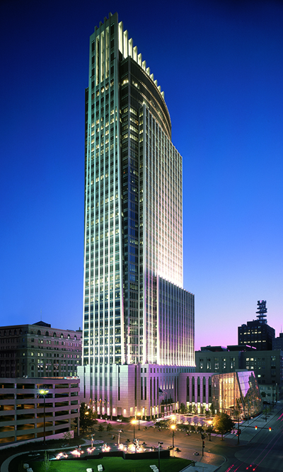 First National Tower in downtown Omaha, home of WELLCOM's Trek Up the Tower