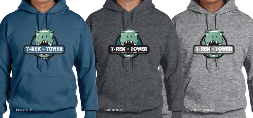 Trek Up the Tower hoodies