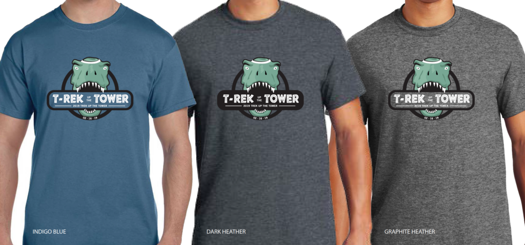 Trek Up the Tower t-shirts