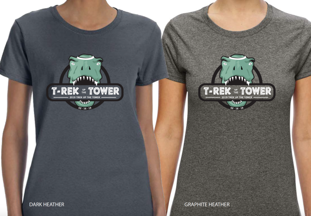 Trek Up the Tower fitted t-shirt