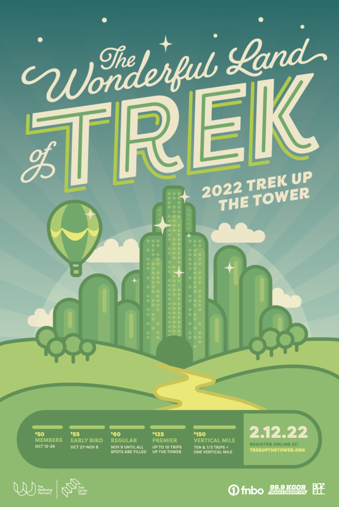 2022 Trek Up the Tower Event poster